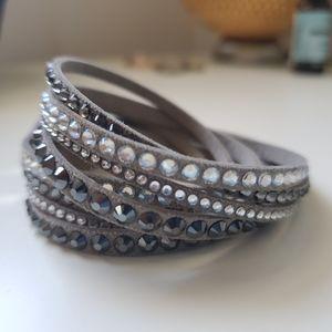 Swarovski - women's grey slake bracelet